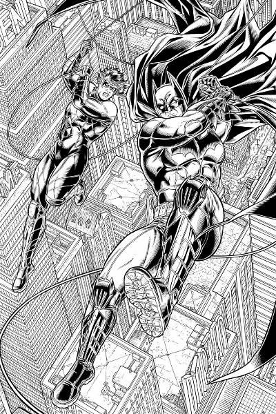 Nightwing 17 y 18.- Juanjo Ryp dibujando y Bonet entintando.